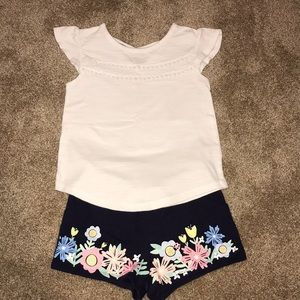Floral shorts with top